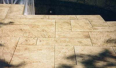 Swimming Pool Decks Brushed Concrete Pea Gravel Spray